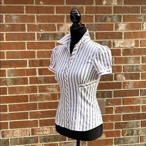 Apt 9 petite button down striped blouse